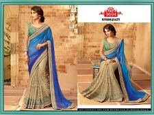 Indian Designer Saree Pakistani Wedding Party Wear Saree Bridal Embroidered Sari