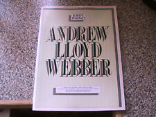EASY PIANO - ANDREW LLOYD WEBBER PLUS CATS - SONGS FROM THE MUSICAL - 2 BOOKS