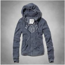 ABERCROMBIE & FITCH * A&F MARYBETH EASY FIT HOODIE JACKET WOMEN Navy Size XS S M