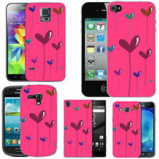 gel case cover for many mobiles - blush string heart silicone