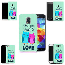 art case cover for various Mobile phones - cute owls silicone