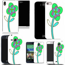 case cover for majority Popular Mobile phones -green leaning flower silicone