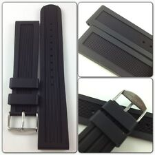HQ 22 MM LINE 5MM THICK DIVER RUBBER BAND XL STRAP FIT SWISS ARMY 22MM WATCH LUG