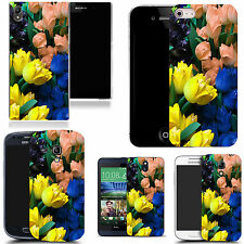 motif case cover for various Popular Mobile phones    - tulip bunch