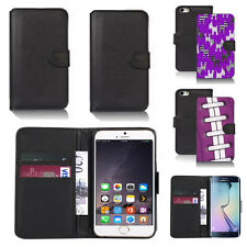 black pu leather wallet case cover for many mobiles design ref q404