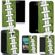 hard case cover for variety of mobiles - green rugby