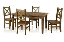 Wooden Dining Table Set 5ft 4 Chairs Chair Kitchen Furniture Solid Pine Wood
