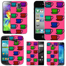 motif case cover for many Mobile phones -  blush colourful cuppa