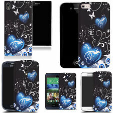 pictoral case cover for most Popular Mobile phones -  blue twin heart