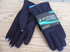 Isotoner Smart Touch Black Touchscreen compatible men's gloves  L  XL  New $45