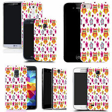 hard case cover for variety of mobiles -  floral owls