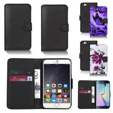 black pu leather wallet case cover for apple iphone models design ref q726