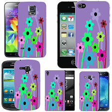 gel case cover for many mobiles - violet mixed flowers silicone