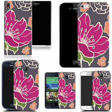 gel case cover for many mobiles  - pink poppy silicone