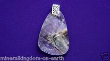 Authentic Genuine Auralite-23 Free-form Pendant, Antique Silver Bail in Gift Box