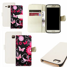 pu leather wallet case for majority Mobile phones -  black butterfly white
