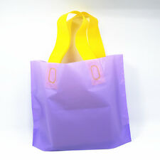 1-300X Purple Plastic Shopping Bag Supermarket Grocery Boutique Store Supplies