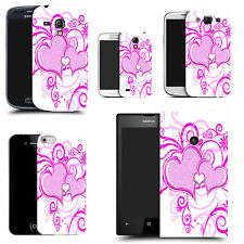 motif case cover for various Popular Mobile phones -  purple heart