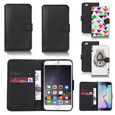 pu leather wallet case cover for apple iphone models design ref q105