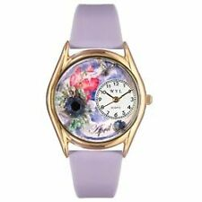 WHIM-C0910004-Whimsical Watches Womens C0910004 Classic Gold Birthstone: April
