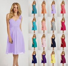 2016 Short Knee Length Formal  Formal Bridesmaid Cocktail Party Prom Dress 6-18