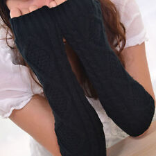 Fingerless Mittens Arm Warmers Long Black white  Red Womens Winter Gloves