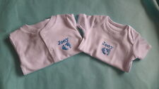 Gorgeous Personalised Embroidered Baby Baby Grow and Vest BOY or GIRLS