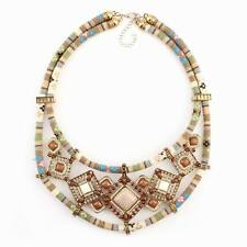 vintage ethnic rope bead pendant statement chunky bib pendant necklace for women