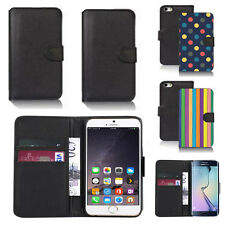 black pu leather wallet case cover for apple iphone models design ref q297