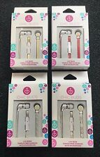 2 Pairs Chic Buds Luv Buds No Tangle Flat Earbuds with Microphone RRP 19.99 pr