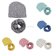 Infant Baby Kid Cotton Hat +Scarf Set Boy Girl Toddler Winter Warm Hat Cap Wrap