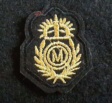 "Coat of Arms 2.5"" Embroidery Patch Black & Gold Applique"