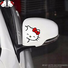 87#CARTON HELLO KITTY Car Mirror Window Body Decal Racing Graphics Sticker(2PCs)