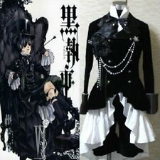 Anime Black Butler Ciel Phantomhive Black Suit Outfit Cosplay Costume