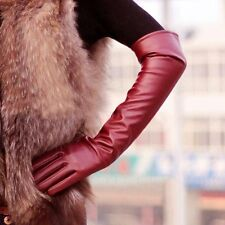 Long PU Leather Gloves Party Women Gloves Warm Outdoors Long Sexy Gloves 1 Pair