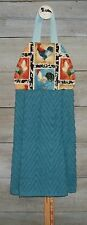 Rooster Patchwork Sampler Hanging Kitchen Oven Hand Dishtowel Handmade by HCF&D