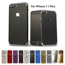Full Body Sticker Carbon fiber Wrap Decal Screen Film Case For iPhone 7/Plus Lot