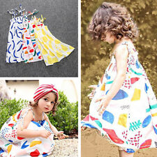 Toddler Baby Girls Cotton Dress Kids Beach Bathing Cool Dress Summer Clothes