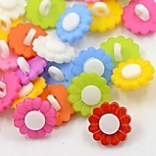 Cute Small Sunflower buttons MANY COLOURS AVAILABLE Sewing Scrap-booking Crafts