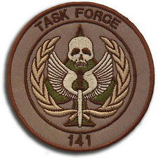 CALL OF DUTY TASK FORCE 141 U.S. ARMY MORALE BADGES Embroidered HOOK PATCH #04