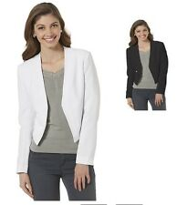 Covington Womens Cropped Blazer Open Front Long Sleeves Lined sizes M L XL NEW