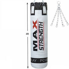 Punch Bags Heavy Duty MMA Kick Fight Boxing 4ft Unfilled Bag Karate Training UFC