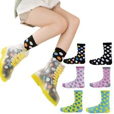 6 Pairs Women Fashion Polka Dots Casual Crew Socks Cute Stockings Assorted color