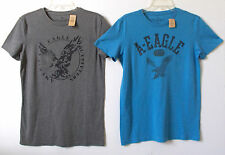 New AMERICAN EAGLE OUTFITTERS Mens GRAPHIC TEES T-Shirt Gray or Blue S - XXL AEO