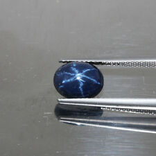Certified 2.61ct 100%Natural Cabochon 6 Ray Dancing Midnight Blue Stars Sapphire