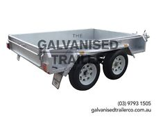 8x5 Tandem Trailer Galvanised Heavy Duty With 300mm Checker Plate Sides