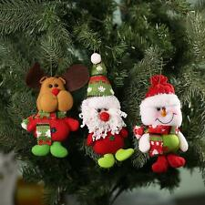 Snowman Santa Claus Reindeer Christmas Doll Toy Xmas Tree Hanging Ornaments O2V5