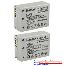 Kastar Battery NB7L for Canon NB-7L work with PowerShot G10 G11 G12 SX30 IS
