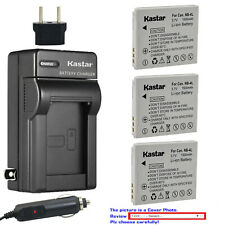 Kastar Battery and Normal Charger Kit for Canon NB-4L PowerShot SD960 SD1400 TX1