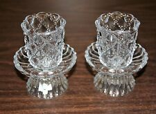PARTYLITE QUILTED CRYSTAL PAIR P8246 VOTIVE /TEALIGHT CANDLE HOLDERS W/ STICKER